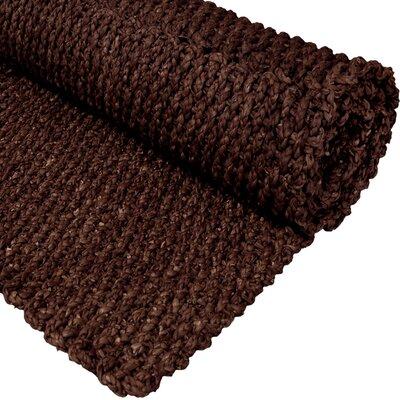 Handmade Dark Brown Solid Area Rug by Oriental Furniture