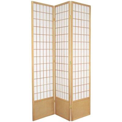 "Oriental Furniture 78"" x 43"" Window Pane Shoji 3 Panel Room Divider"