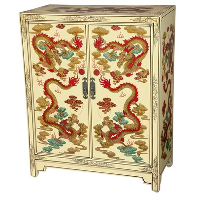 Dragons Shoe Cabinet by Oriental Furniture
