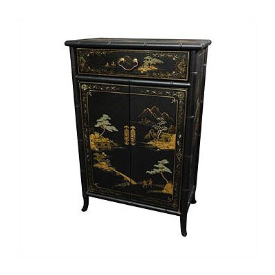 Japanese Crackle Shoe Cabinet by Oriental Furniture