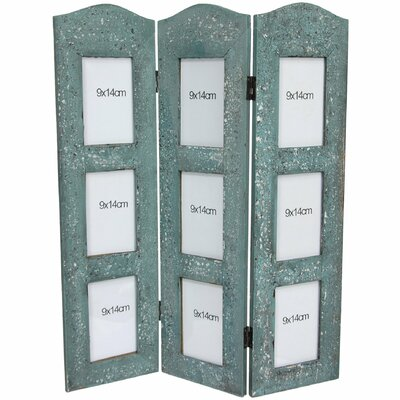 Distressed Photo Screen Room Divider by Oriental Furniture