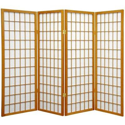 "Oriental Furniture 48"" x 57"" Window Pane Shoji 4 Panel Room Divider"