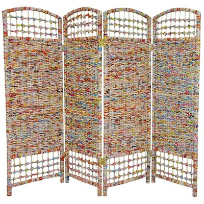 "Oriental Furniture 47.75"" x 63"" 4 Panel Room Divider"