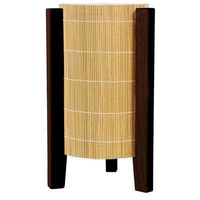 """Oriental Furniture Kago 13"""" H Table Lamp with Drum Shade"""