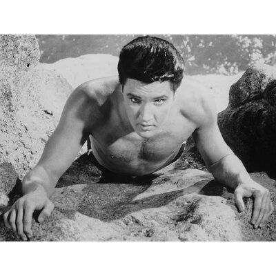 Oriental Furniture Elvis Presley At the Beach Photographic Print on Canvas