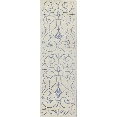 Norwalk Hand-Tufted Ivory/Blue Area Rug by Bashian Rugs