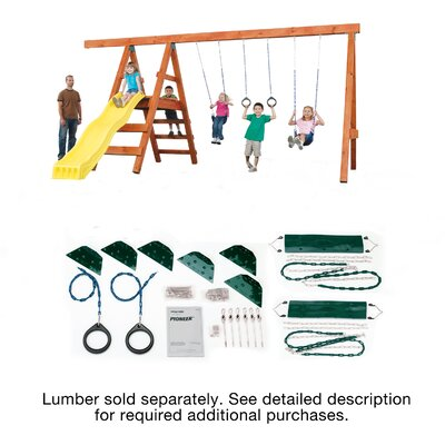 Ready to Build Custom Pioneer DIY Swing Set Hardware Kit - Project 150 Product Photo