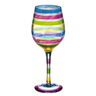 Multi Stripe All Purpose Wine Glass by Evergreen Enterprises, Inc