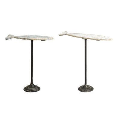 Coastal Elegance 2 Piece Fish Shaped End Tables by Evergreen Enterprises, Inc