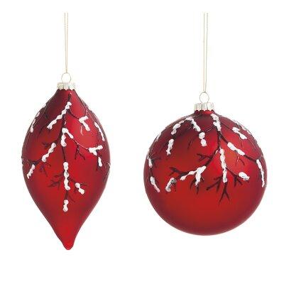 2 Piece Birch Glass Ornament Set by Evergreen Enterprises, Inc