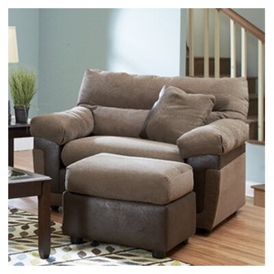 Wyatt Big Chair and Ottoman by Klaussner Furniture