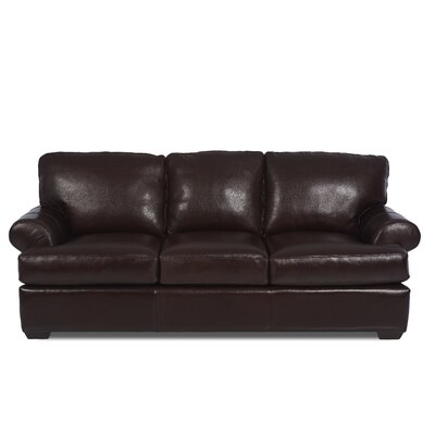 Peabody Leather Sofa by Klaussner Furniture
