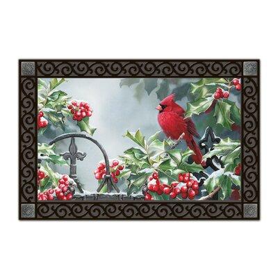 Magnet Works, Ltd. Hollyberry Cardinal Matmate Doormat