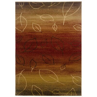 LR Resources Adana Cherry & Light Brown Area Rug