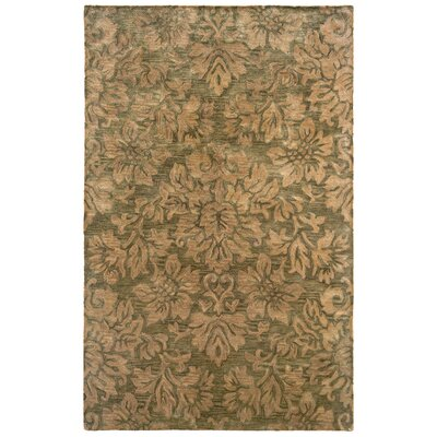 Majestic Green Bold Floral Rug by LR Resources