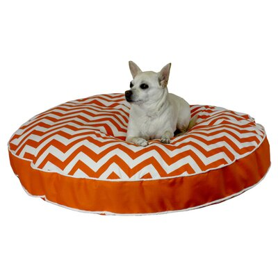 Snoozer Pet Products Pool and Patio Round Chevron Dog Pillow