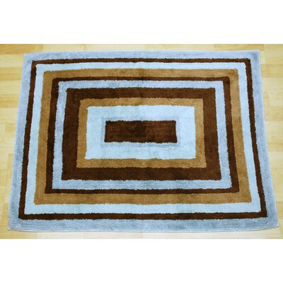 My Baby Sam Mad About Blue/Brown Plaid Area Rug