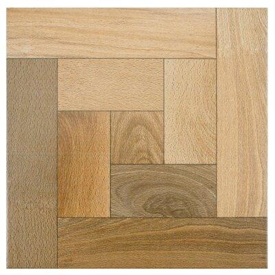 EliteTile Cobi Random Sized Ceramic Wood Tile in Nogal