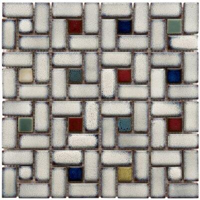 EliteTile Essentia Random Sized Porcelain Mosaic Tile in Cascade