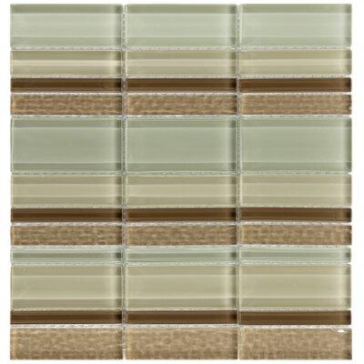 EliteTile Sierra Random Sized Glass Mosaic Tile in Meridian Stratus