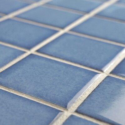 Elitetile Pool 2 Quot X 2 Quot Porcelain Mosaic Tile In Cerulean