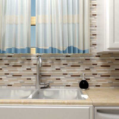 EliteTile Sierra Random Sized Glass and Natural Stone Mosaic Tile in River