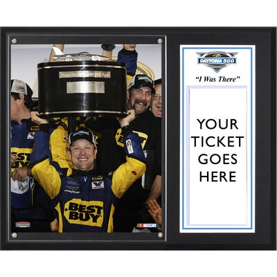 NASCAR 2012 Daytona 500 Champion Sublimated 'I WAS THERE' Memorabilia Plaque by Mounted Memories
