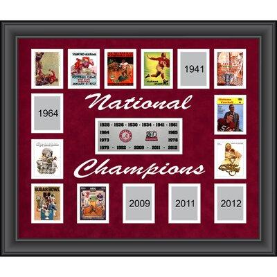 Mounted Memories Alabama Crimson Tide 15-Time National Champions Framed Collage