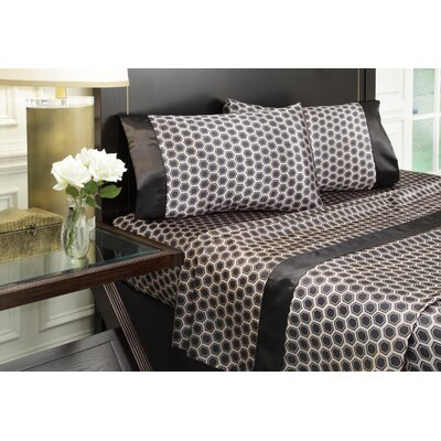 Royal Opulence 230 Thread Count Printed Satin Sheet Set by Divatex Home Fashions