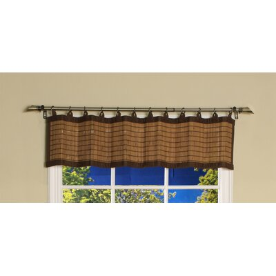 Bamboo Ring Top Valance Curtain Product Photo