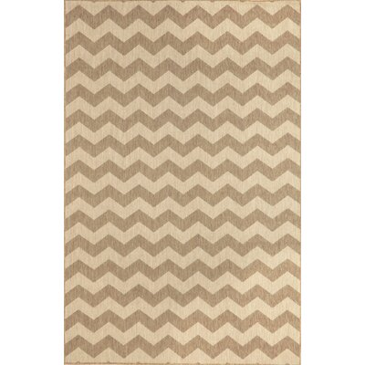 Monterey Neutral Zig Zag Indoor/Outdoor Rug by Liora Manne