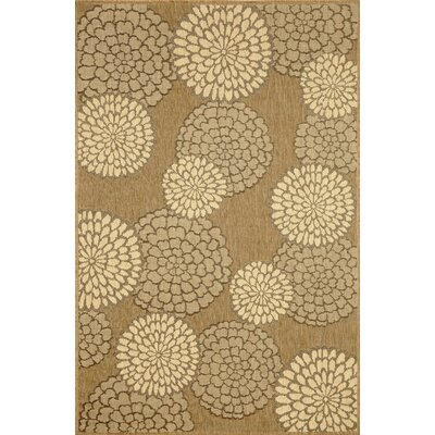 Monterey Neutral Mums Indoor/Outdoor Rug by Liora Manne