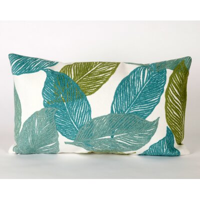 Mystic Leaf Indoor/Outdoor Lumbar Pillow by Liora Manne