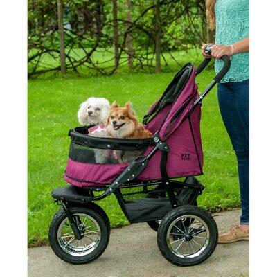 No-Zip Double Pet Stroller by Pet Gear