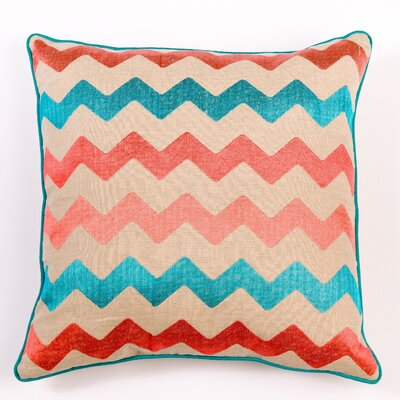 Filling Spaces Ikat and Suzani All Chevron Linen Pillow Cover