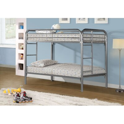 Twin Bunk Bed with Metal Ladders by Monarch Specialties Inc.