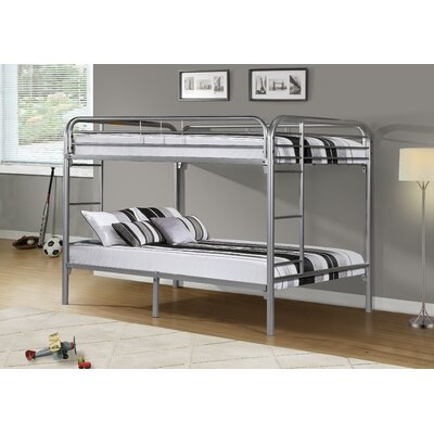 Full Bunk Bed with Metal Ladders by Monarch Specialties Inc.