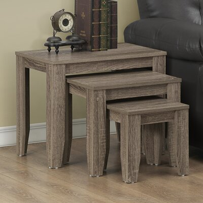 3 Piece Nesting Tables by Monarch Specialties Inc.