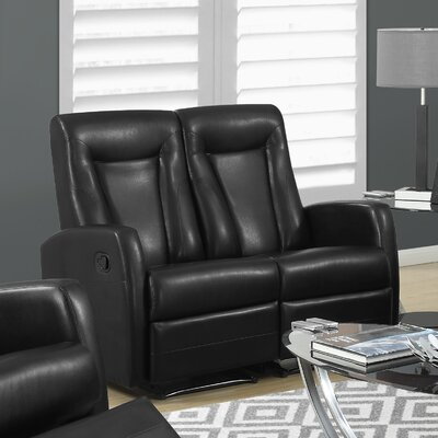Bonded Leather Reclining Loveseat by Monarch Specialties Inc.