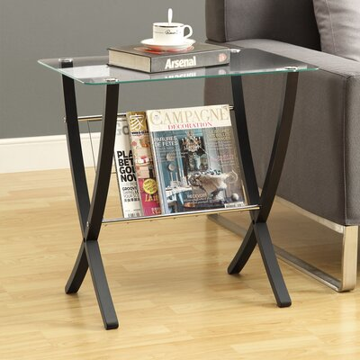 Magazine End Table by Monarch Specialties Inc.
