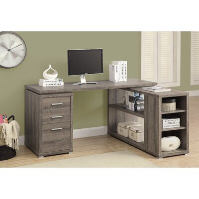 Monarch Specialties Inc. Corner L-Shaped 3 Drawer Writing Desk