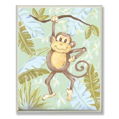 The Kids Room Monkey Jungle Rectangle Wall Plaque by Stupell Industries