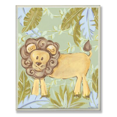 The Kids Room Lion Jungle Rectangle Wall Plaque by Stupell Industries