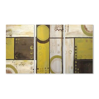 Stupell Industries Industrial Circles Triptych 3 Piece Wall Plaque Set