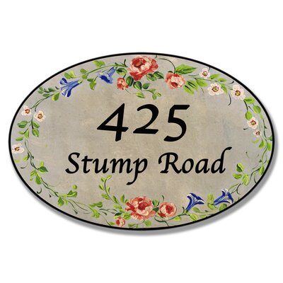 Personalized Oval Floral Wall Plaque by Stupell Industries