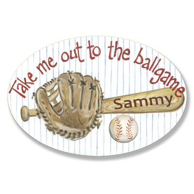 Kids Room Personalization Base Ball Bat Wall Plaques by Stupell Industries