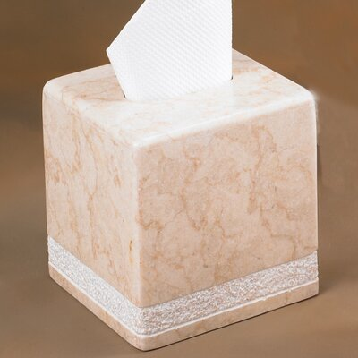 Champagne Marble Hand Carved Tissue Box Holder by Creative Home