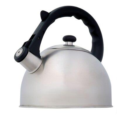 Creative Home Satin Splendor 2.8 Qt. Whistle Tea Kettle