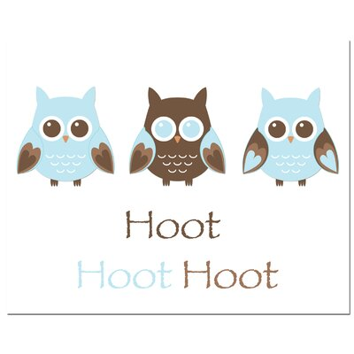 Secretly Designed Owl Trio Hoot Art Print