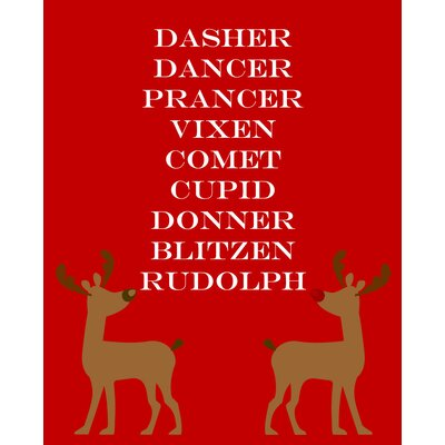 Reindeers Art Print by Secretly Designed